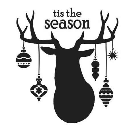 christmas stenciltis  season deer head ornamentsx