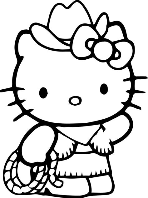 kitty coloring pages wecoloringpage  kitty