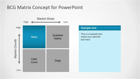 bcg matrix concept  powerpoint slidemodel