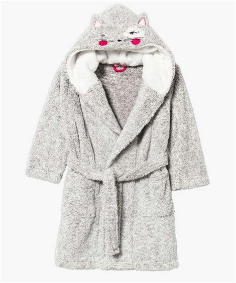 robe de chambre gar n 14 ans robe de chambre à capuche en pilou pilou pour fille gémo