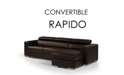canape lit d angle rapido sidney cuir recycle marron