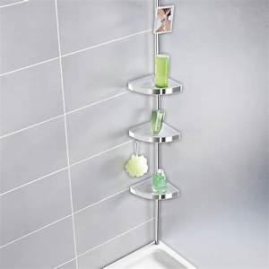 Support Savon Douche : etagere d 39 angle de douche design etagere douche ~ Premium-room.com Idées de Décoration