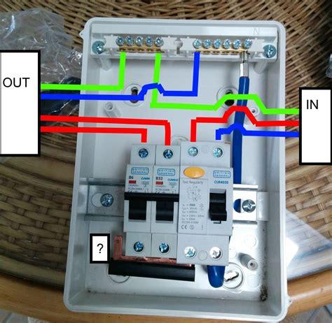 Wiring Garage Consumer Unit The