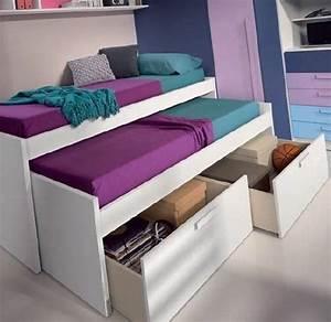 Lit Enfant 190 : lit gigogne loopy avec 2 tiroirs couchage 90 x 190 diy pinterest lit gigogne tiroir et lits ~ Teatrodelosmanantiales.com Idées de Décoration