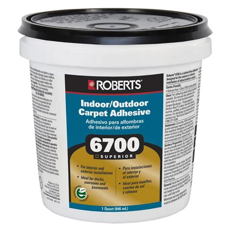 home depot flooring adhesive roberts 6700 1 gal indoor outdoor carpet and artificial turf adhesive 6700 1 the home depot