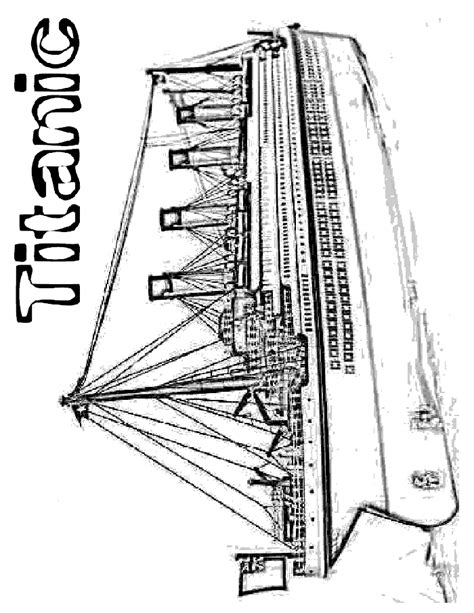 Titanic Kleurplaat by Titanic Coloring Pages To Print Coloring Home