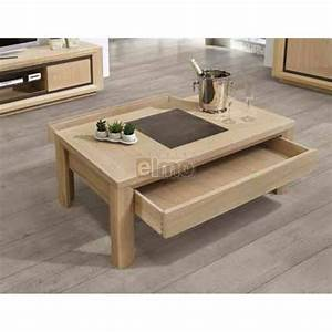 Table Basse Contemporaine Chne Massif Et Cramique