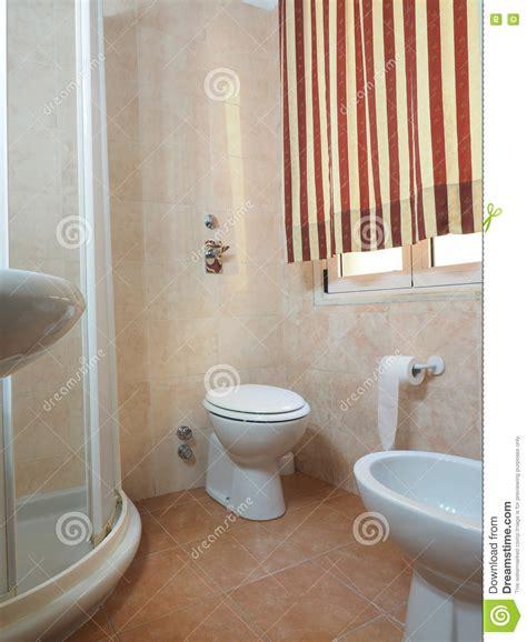 Bidet Italy - bathroom two hotel milan italy with bidet stock photo