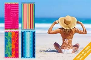 Grande Serviette De Plage : grandes serviettes de plage toucher velours 57 de rabais offert sur ~ Teatrodelosmanantiales.com Idées de Décoration