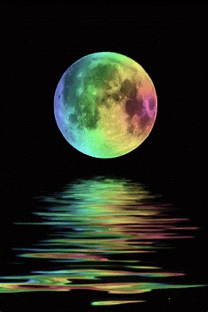 Pretty Thing Moon Colorful Rainbow Things Water