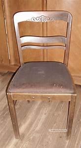 Stuhl Vintage Shabby : holz stuhl mit federkern alt art deco bauhaus vintage shabby chic ~ Orissabook.com Haus und Dekorationen