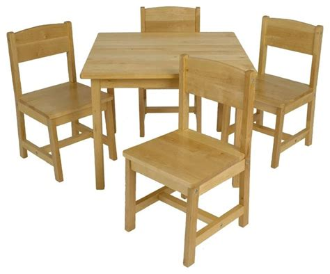 tino farmhouse table w chairs by kidkraft modern