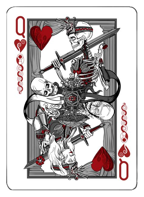 queen  hearts playing cards art card tattoo