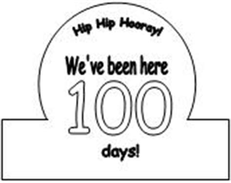 100th Day Of School Crown Template by Illuminations 100th Day Of School