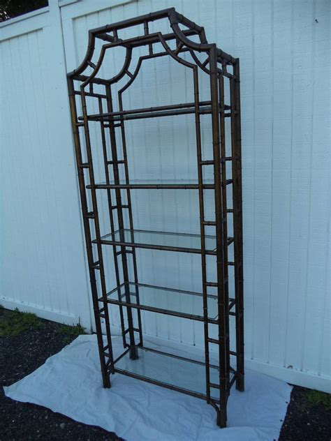 Bamboo Etagere by Chippendale Pagoda Style Faux Bamboo Etagere At