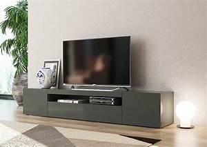 Meuble Gris Anthracite : meuble tv gm daiquiri gris anthracite brillant ~ Teatrodelosmanantiales.com Idées de Décoration