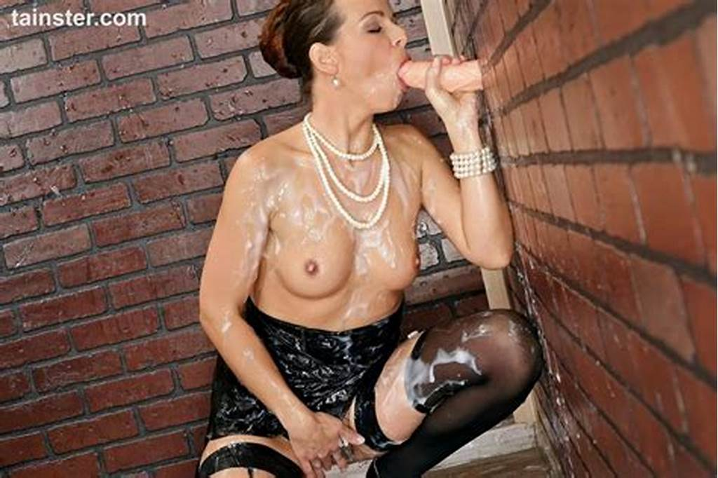 #Classy #Broad #In #Black #Cocktail #Dress #Gets #Drenched #In #Cum
