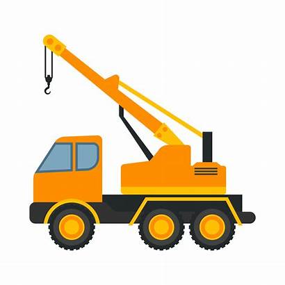 Heavy Equipment Vector Background Construction Isolated Truck