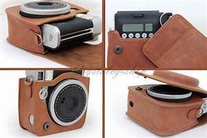 Brown Leather Bags Instax Mini 90 Instant Polaroid Case ...