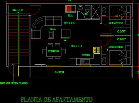 apartment floorplan  autocad  cad