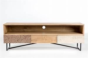 Meuble Tv Bois Design : meuble tv design bois et metal ~ Preciouscoupons.com Idées de Décoration