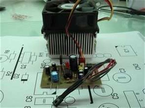 Transistor Used Temperature Sensor Fan Control