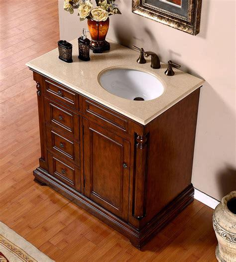 bathroom washbasin cabinets silkroad 36 inch antique single sink bathroom vanity 11953