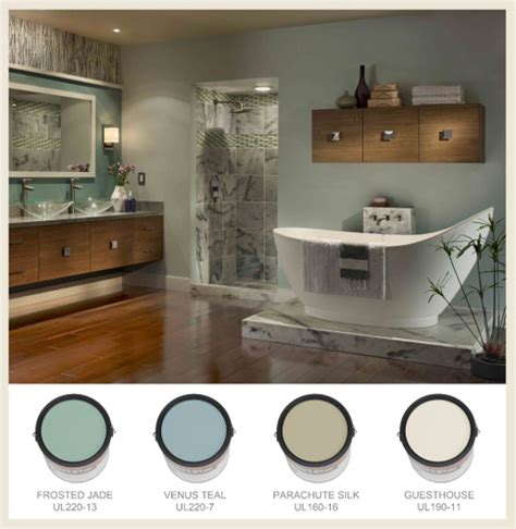 Spa Bathroom Color Schemes colorfully behr bathroom color splendor
