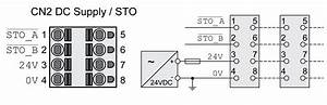 Connection 24 Vdc Control Supply And Sto  Cn2  Dc Supply