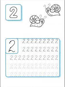 printable handwriting number sheets  children