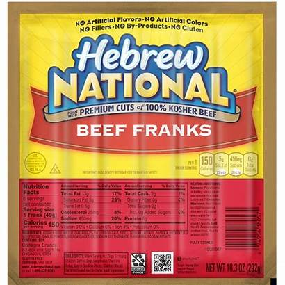 Hebrew Beef Franks National Fat Kosher 97