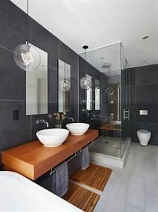 Meuble Salle De Bain Bois Gris : 59 salles de bain chic qui vous montrent le beaut du ~ Edinachiropracticcenter.com Idées de Décoration