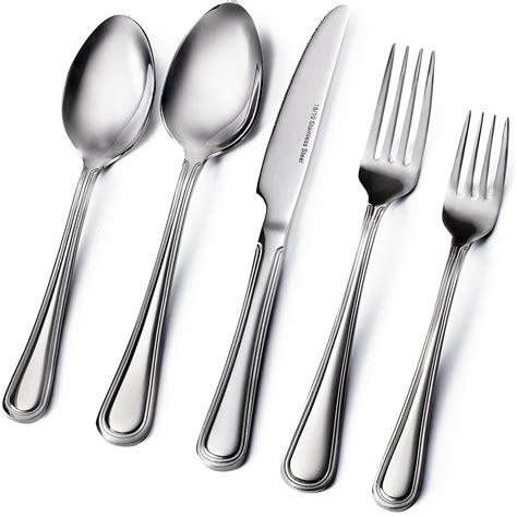 silverware flatware stainless steel sets heavy thick extra