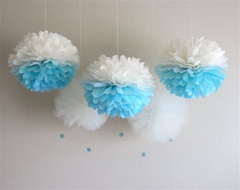 pom pom decorations frozen pom poms frozen ombre by prettywithsprinkles