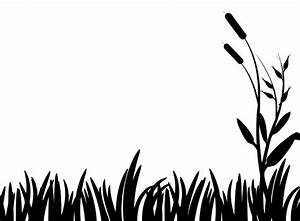 Grass Silhouette Clipart Free Stock Photo - Public Domain