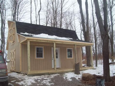 16X24 Gambrel Shed with Porch Plans