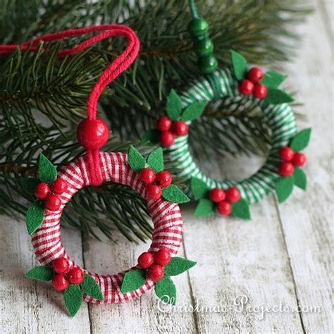 craft project  christmas mini wreath ornaments