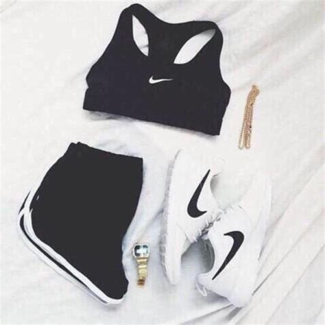 Shorts summer comfy hot black white nike beautiful sun outfit outfitgoals workout ...