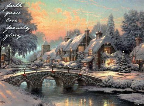 homeade lifesize thinas kinkade christmas tree cobblestone kinkade kinkaid kinkade