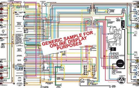 Chevy Belair Biscayne Impala Color Wiring Diagram