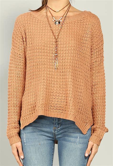 waffle knit sweater waffle knit sweater shop lightweight at papaya clothing