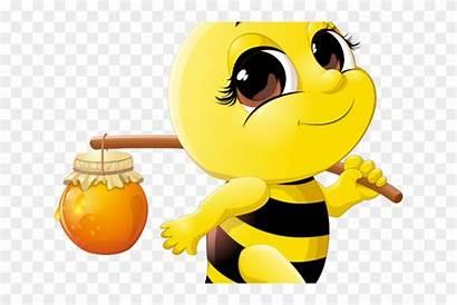 Bee Bumble Clipart Honey Clip Drinking Cartoon
