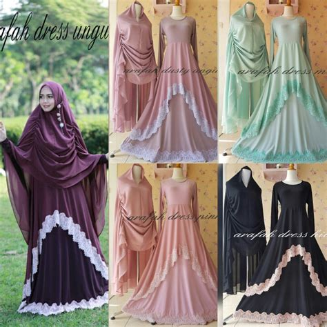 arafah dress  aidha design gamis set syari collection
