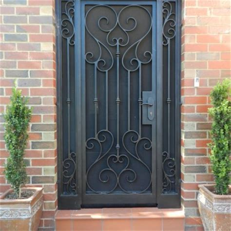 wrought iron security doors unique wrought iron security doors melbourne melbourne