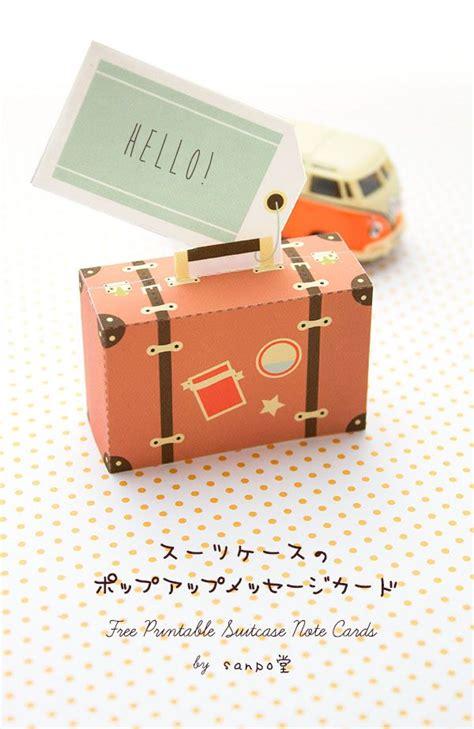 diy  printable mini paper suitcase graduation diy
