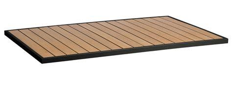synthetic teak commercial outdoor table top