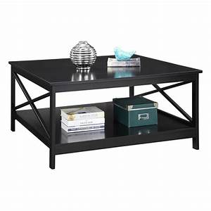 """36"""" Square Coffee Table in Black"""