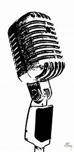 Old Microphone - ClipArt Best