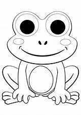 Frog Coloring Pages Cartoon Frogs Printable Da Colorare Colorings Verde Sheets Kindergarten Drawing Kid Immagini sketch template