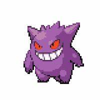 Gengar Pixel Icon Pokemon Deviantart Seizured Animated ...